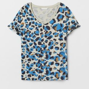 H&M Cheetah Print Long Tee